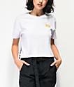 Vans Track camiseta corta blanca con dobladillo dividido
