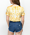 Vans Triangle camiseta amarilla estilo boyfriend con efecto tie dye