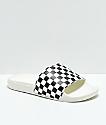 Vans White & Black Checkerboard Slide Sandals
