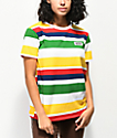 Vans camiseta de rayas multicolor