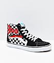 Vans x David Bowie Sk8-Hi Bowie zapatos de skate de cuadros negros y blancos