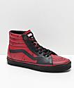 Vans x Marvel Sk8-Hi Deadpool zapatos rojos y negros
