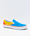 Vans x The Simpsons Slip-On Pro Blue & Yellow Skate Shoes