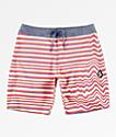 Volcom Aura Stoney shorts de baño de rayas