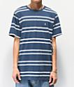 Volcom Beauville Crew Blue T-Shirt