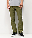 Volcom Vorta jeans de color verde oliva