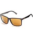 Von Zipper Lesmore Black Satin & Gold Polarized Sunglasses