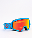 VonZipper Cleaver Spring Break Cyan Satin & Wildlife Fire gafas de snowboard cromadas