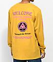Welcome Hotline Sleeve Mustard Long Sleeve T-Shirt