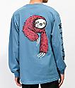 Welcome Sloth camiseta de manga larga azul pizarra