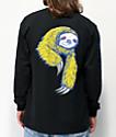 Welcome Sloth camiseta negra de manga larga