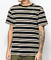 Zine Bonus Stripe camiseta negra y marrón