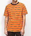 Zine Breaker Stripe Orange, Yellow & Black T-Shirt