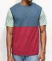 Zine Choice Block camiseta azul, rojo y gris