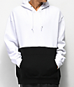Zine Mass sudadera con capucha blanca y negra