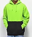 Zine Mass sudadera con capucha negra y verde