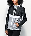 Zine Shalia Black, White & Grey Windbreaker Jacket