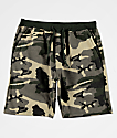 Zine Silas Athletic Green Camo Sweat Shorts