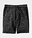 Zine Silas Space Dye Black Sweat Shorts