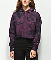 Zine Tariana sudadera con capucha borgoña con efecto tie dye