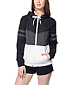 Zine Zuri Black, Grey & White Color Block Windbreaker