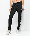 adidas 3 Stripe Black Track Pants