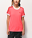 adidas 3 Stripe Flash Red T-Shirt