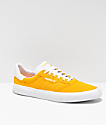 adidas 3MC Gold & White Skate Shoes
