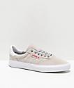 adidas 3MC zapatos grises, blancos y escarlata