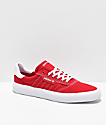 adidas 3MC zapatos rojos y blancos
