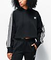 adidas Black Crop Hoodie