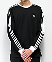 adidas Cali Blackbird Black & White Long Sleeve T-Shirt
