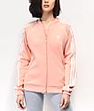 adidas Collegiate chaqueta de chándal rosa claro de 3 rayas