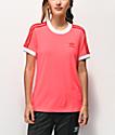 adidas Flash camiseta roja de 3 rayas