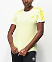 adidas Ice camiseta amarilla de 3 rayas