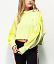 adidas Ice sudadera con capucha amarilla de 3 rayas