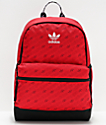 adidas National Allover Print Red Backpack