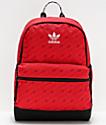 adidas National Allover Print mochila roja