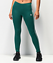 adidas Noble leggings verdes de 3 rayas