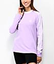 adidas Purple Glow camiseta de manga larga de 3 rayas
