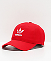 adidas Women's Originals Relaxed Red & White Strapback Hat