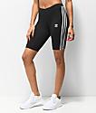 adidas shorts negros de ciclismo de 3 rayas
