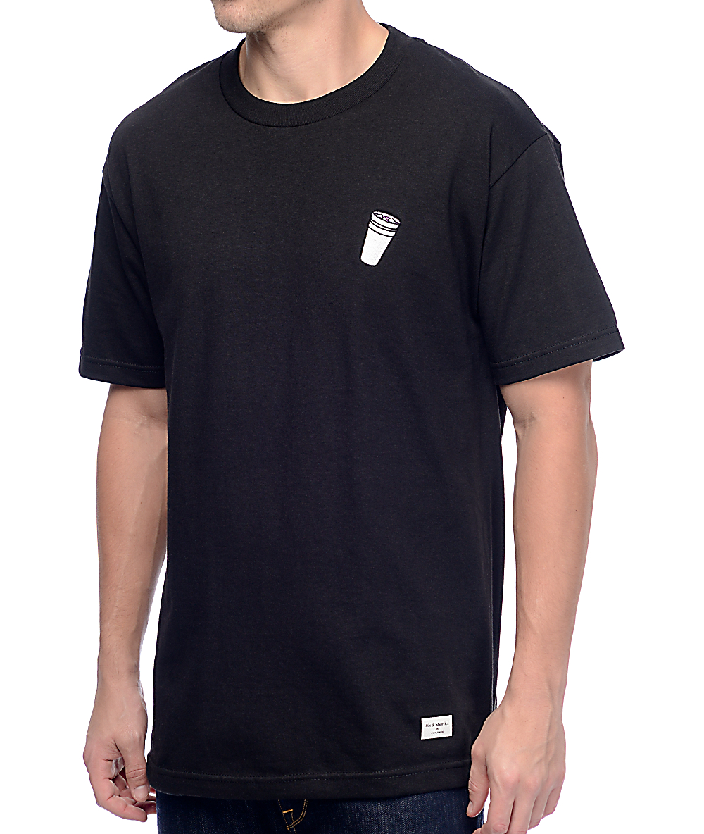 a62bc3266b 40s & Shorties Double Cup Black T-Shirt