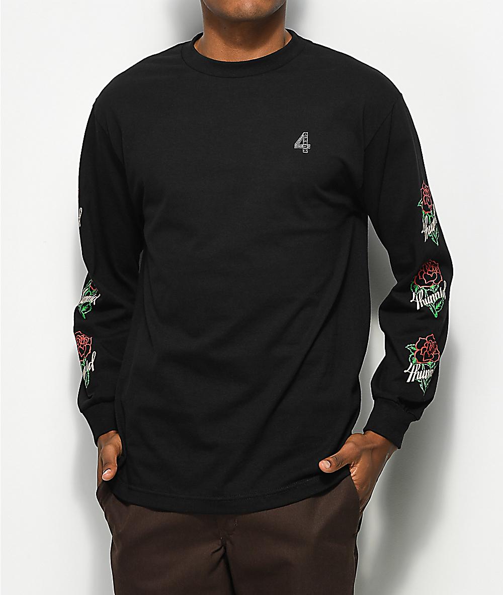 unglaubliche Preise ganz nett letzter Rabatt 4Hunnid La Rosa Black Long Sleeve T-Shirt