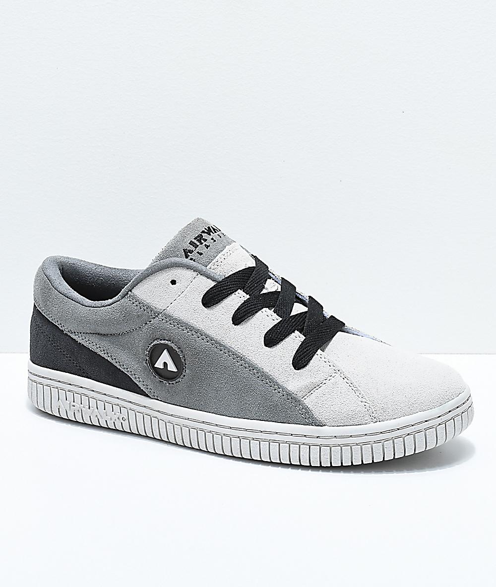 Airwalk One Charcoal & Grey Skate Shoes