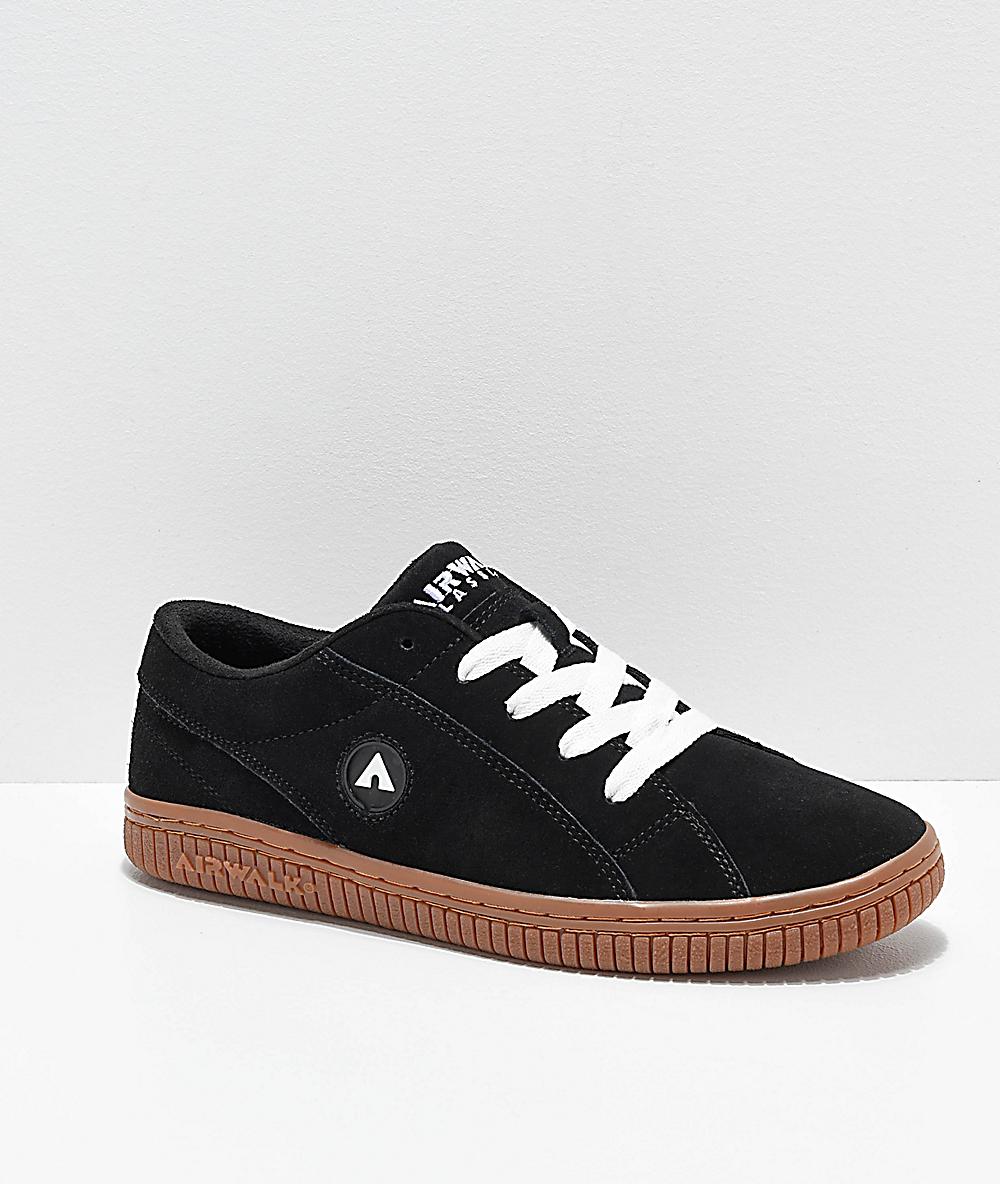Airwalk The One Black & Gum Skate Shoes