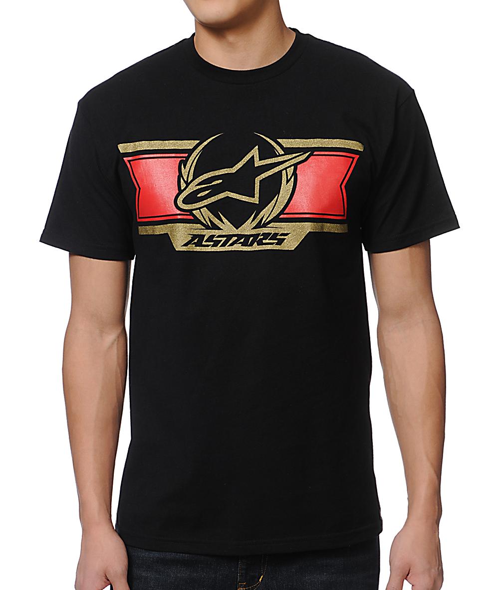 Black//Red Alpinestars Always T-Shirt