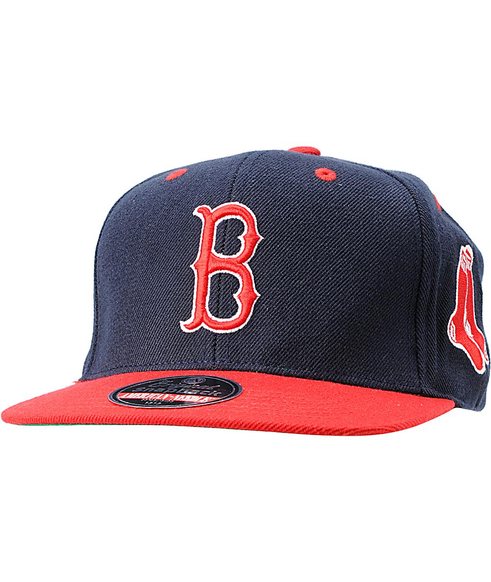 aba6bd669a4cc0 American Needle Blockhead Boston Red Sox Snapback Hat   Zumiez