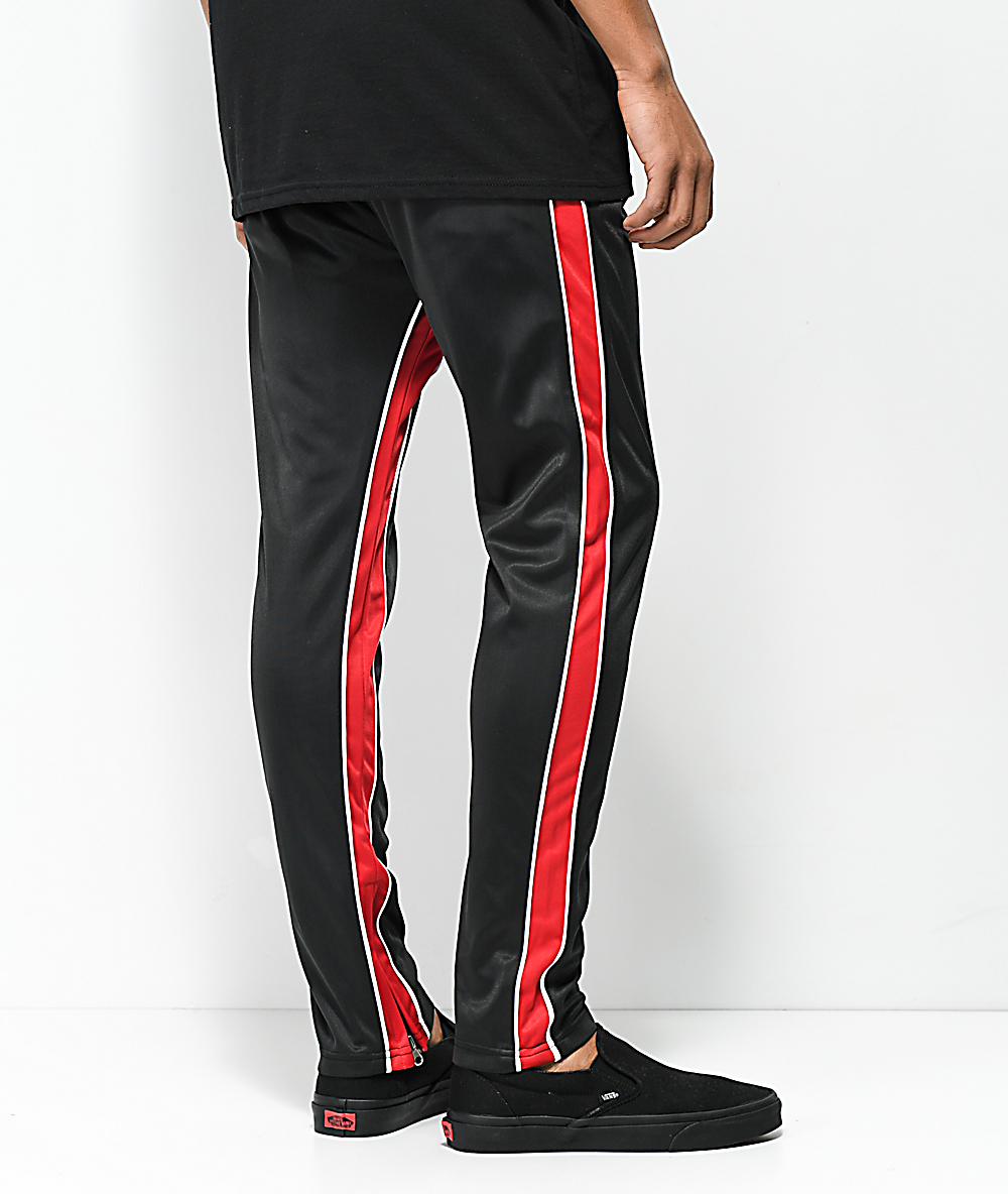 3bec5079 American Stitch Black & Red Double Stripe Track Pants | Zumiez