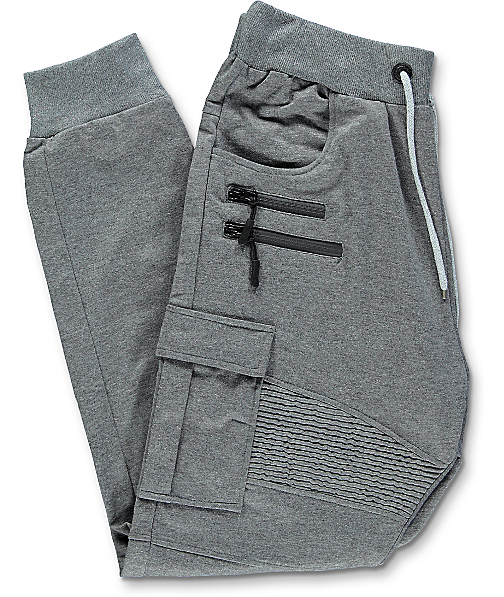 728139a793 American Stitch Charcoal Cargo Terry Jogger Pants